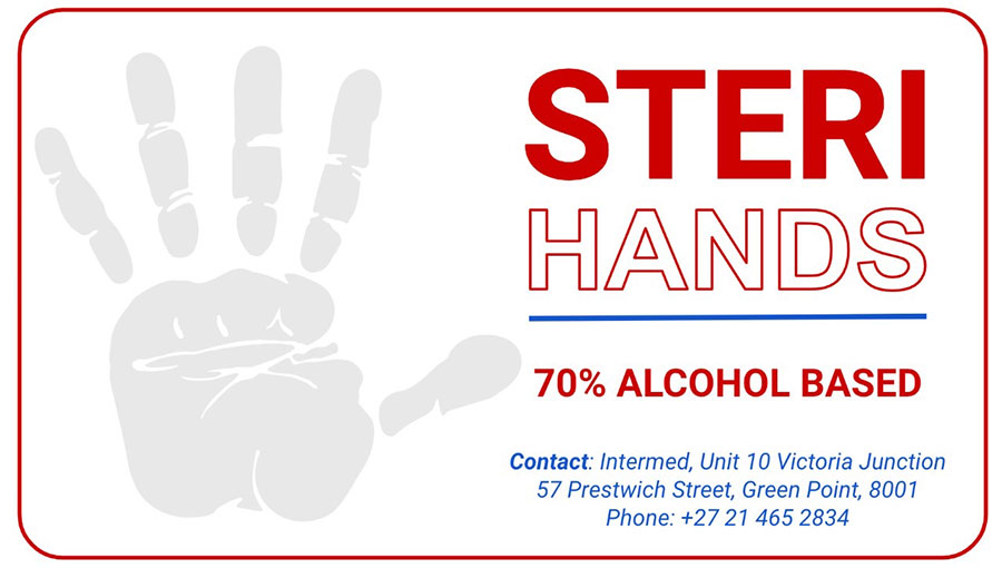 Steri Hands hand sanitizers